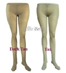 Dark tan footed dance tights