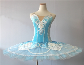 Ballet performance tutu -- Performance quality -- Pale blue