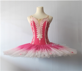 Ballet performance tutu -- Performance quality in cherry blossom pink for girl