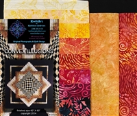 Convex Illusions Quilt Kit-Red Pink Yellow Orange2