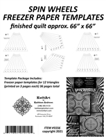 Spin Wheels Freezer Paper Template Package 66 inch