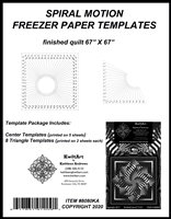 Spiral Motion Freezer Paper Templates Package