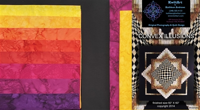 Convex Illusions & Poppin In Quilt Kit - Brights
