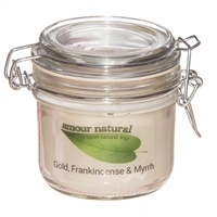 Frankincense and Myrrh Candle, 200ml Clip Jar