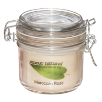 Moroccan Rose Candle, 200ml Clip Jar
