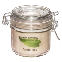 Sandalwood Candle, 200ml Clip Jar
