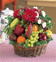 Christmas Greetings Fruit Basket
