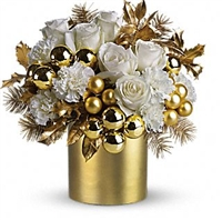 Gold Glittered Snow Bouquet