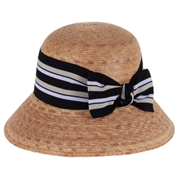 Women's Ella Hat Multi Striped Bow w/SSB
