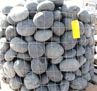 "Black Mexican Beach Pebbles La Paz 3"" to 5"""