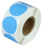 "2"" Light Blue Circle Stickers"