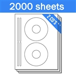 Avery Compatible 5931 8931 - Labels on Sheets (1 Carton - 2000 Sheets)