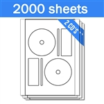 Memorex Compatible FullFace - Labels on Sheets (1 Carton - 2000 Sheets)