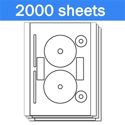 Neato CLP-192355 Compatible - Labels on Sheets (1 Carton - 2000 Sheets)