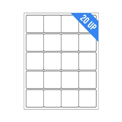 "2"" x 2"" - 20 UP - Labels on Sheets"