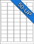 "1"" x 1-1/2"" - 50 UP - Labels on Sheets"
