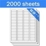 "1.75"" x 0.5"" - 80 UP - Labels on Sheets (1 Carton - 2000 Sheets)"