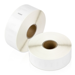 "Dymo Compatible 1933081 Plastic Poly Labels 1""  x 3-1/2"""