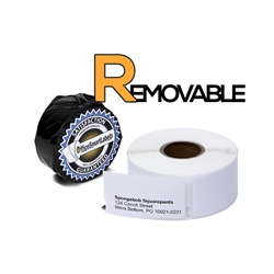 "Dymo Compatible Removable 30330 - 3/4"" x 2"" Return Address Labels"