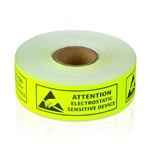 "1"" x 2-1/2"" Attention - Electrostatic Sensitive Device Fluorescent"
