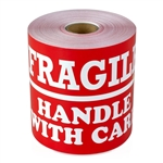 "4"" x 6"" Fragile Handle With Care with Line - Stickers"