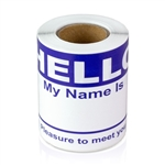 "2-5/16"" x 4 Hello My Name is Colored Name Badges - Dark Blue"