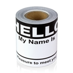 "2-5/16"" x 4 Hello My Name is  Colored Name Badges - Black"