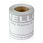 "2-5/16"" x 4 Hello My Name is  Colored Name Badges - Gray"