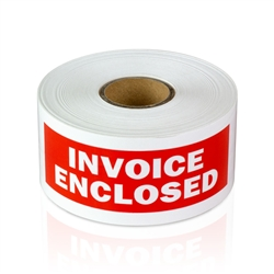 "1-1/2"" x 4"" Invoice Enclosed - Stickers"