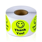 Thank You - Yellow - Stickers