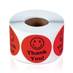 Thank You - Fluorescent Red - Stickers