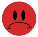 Sad Frowny Face Sticker