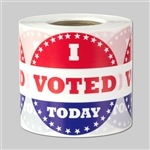 I Voted Today Red White & Blue Round Sticker