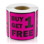 Buy One Get One Free Sticker Labels