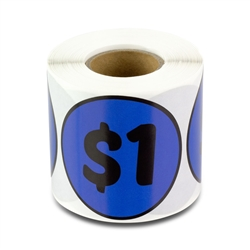 $1 One Dollar Price Sticker Labels
