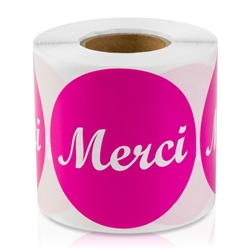 Merci French Thank You Stickers