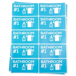 Bathroom #1 Moving Stickers