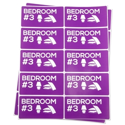 Bedroom #3 Moving Stickers
