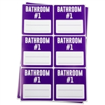 Bathroom #1 Memo Moving Stickers