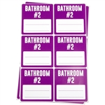 Bathroom #2 Memo Moving Stickers