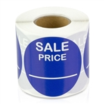 Sale Price Stickers -  Blue