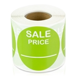 Sale Price Stickers -  Lime