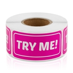 Try Me Sticker Labels