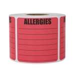 "2"" x 2"" Allergies Stickers Labels with Write in Area (Large)"