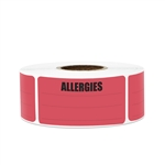"2.15"" x 1"" Allergies Stickers Labels with Write in Area (Small)"