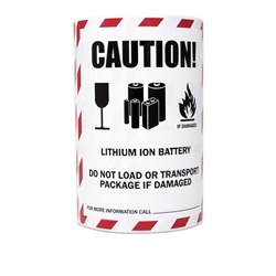 "4"" x 4.75"" Caution Lithium Ion Battery Handling Warning Stickers Labels"