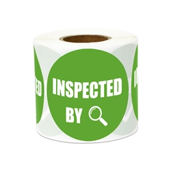 "2"" Quality Control: Inspected By Stickers Labels"