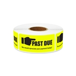 "2.25"" x 1"" Billing & Collections: Past Due Stickers Labels"