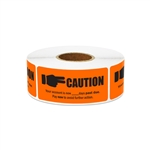 "2.25"" x 1"" Billing & Collections: Caution Account is Past Due Stickers Labels"