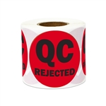 "2"" Quality Control: QC Rejected Stickers Labels"